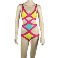 3 Colors One Piece Bandage Swim Wear