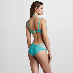 Aqua Blue Bandage Swimsuit
