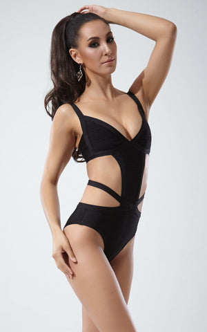 Black Mono Bandage Swimsuit