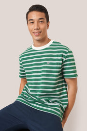 Striped Pique Pocket Tee