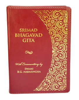 Srimad Bhagavad Gita (Small Size) — Dual Color Print Imitation Leather