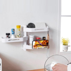 3-Layer 180 Rotating Punch-Free Corner Rack
