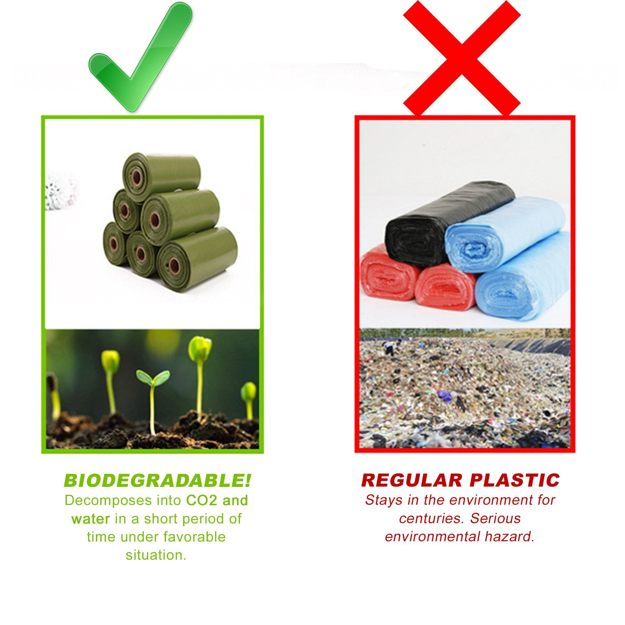 Biodegradable Pet Poop Bags Set