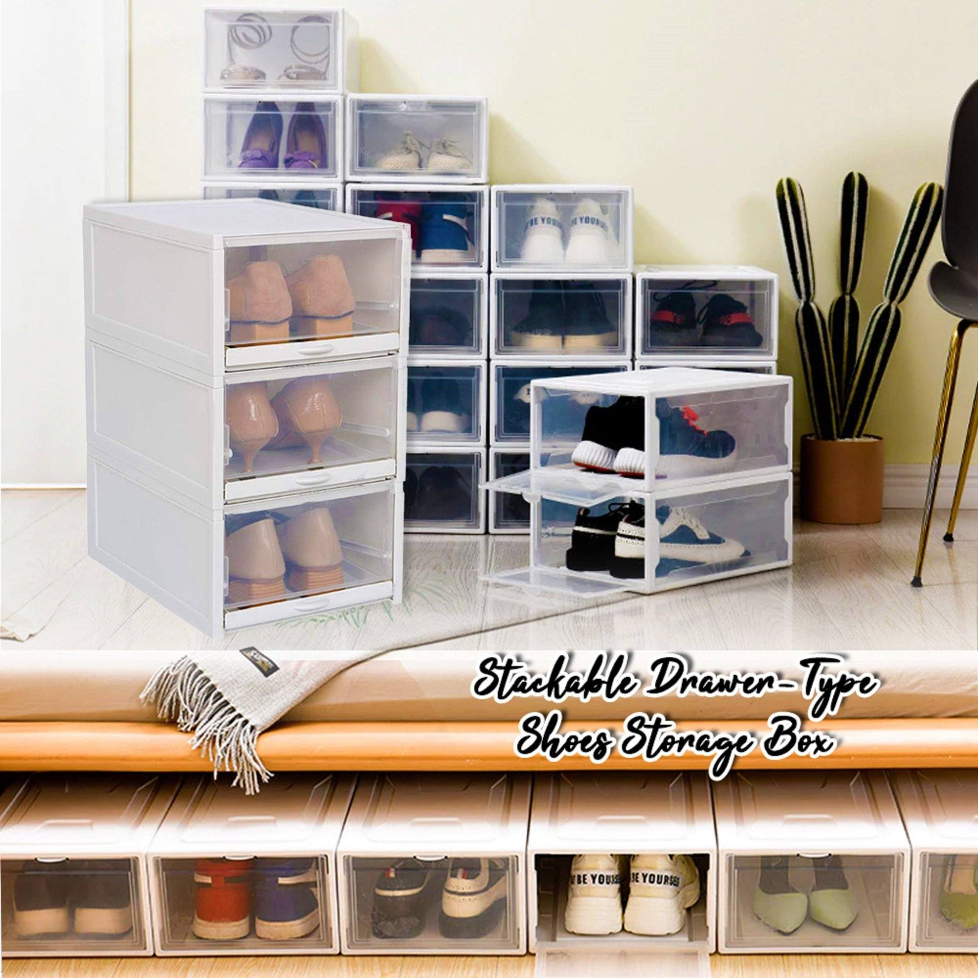 Stackable Drawer-Type Shoes Storage Box
