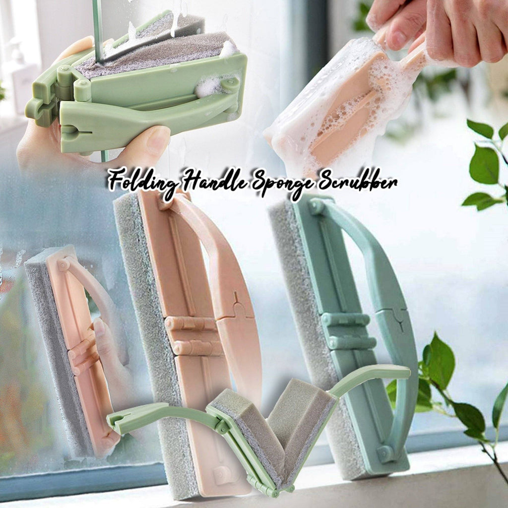 Folding Handle Sponge Scrubber