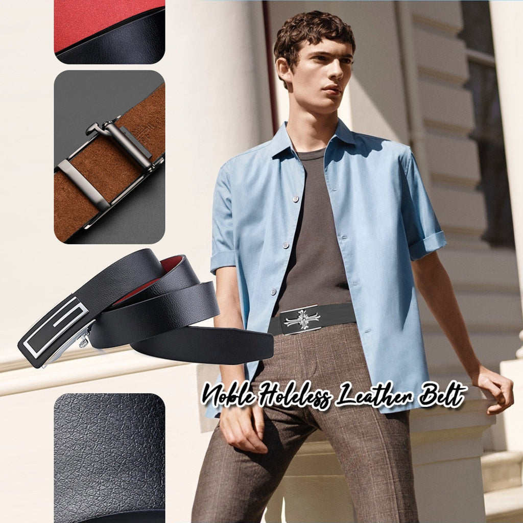 Noble Holeless Leather Belt