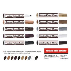 Wood Furniture Repair and Touch-Up Marker (6 Pcs Set)