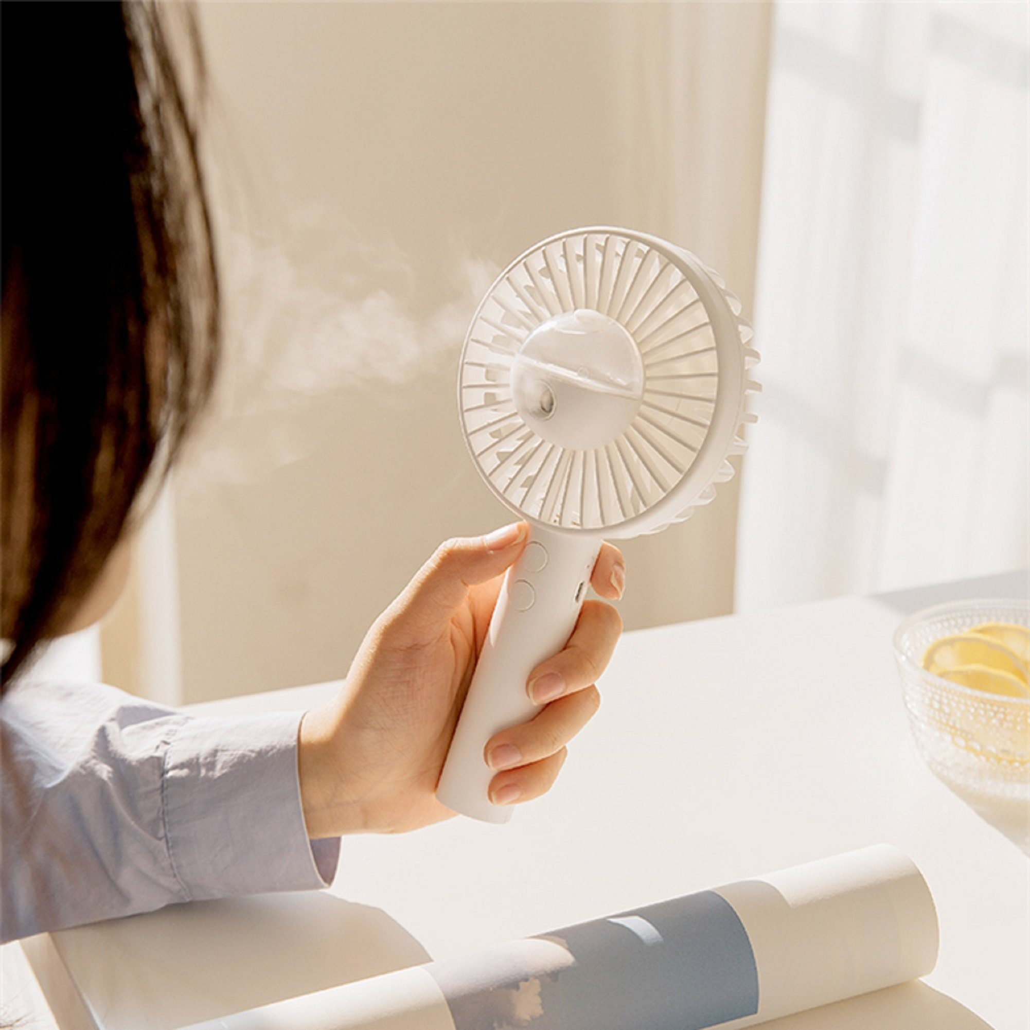 Portable USB Rechargeable Water Spray Fan