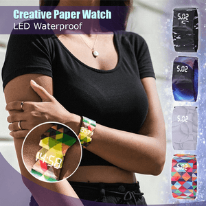 Digital LED Paper Watch