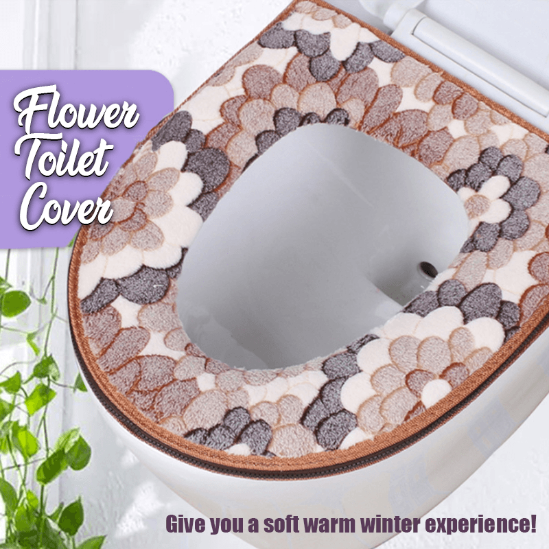 Floral Toilet Cover