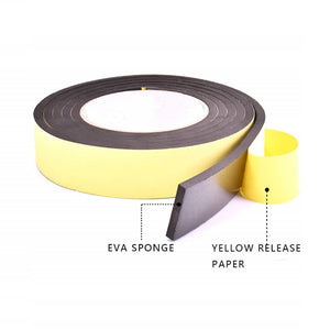 5mm-Thick Noise Insulation One-Sided Tape - Set For 3