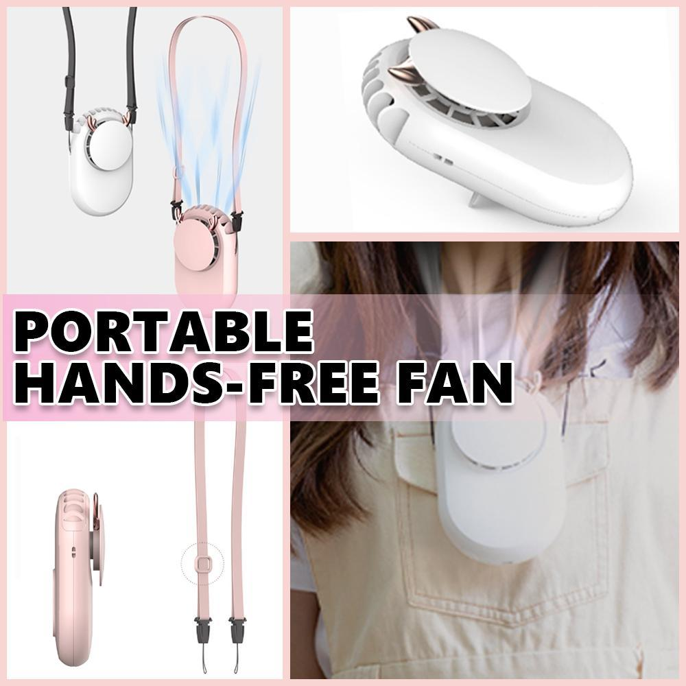 Portable Hands-Free Vertical-Cooling USB Fan