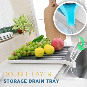 Double Layer Storage Drain Tray