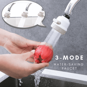 Three-Mode Water-Saving Faucet Head