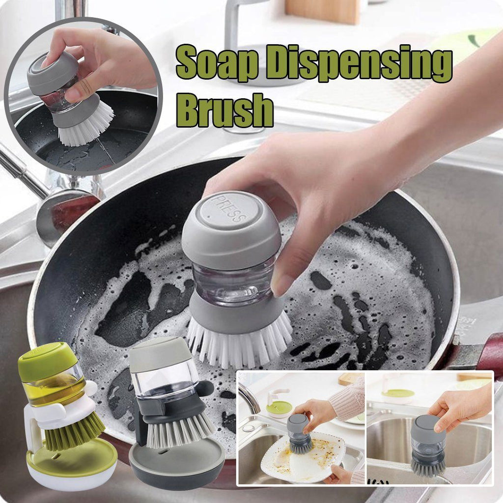 Soap Dispensing Brush