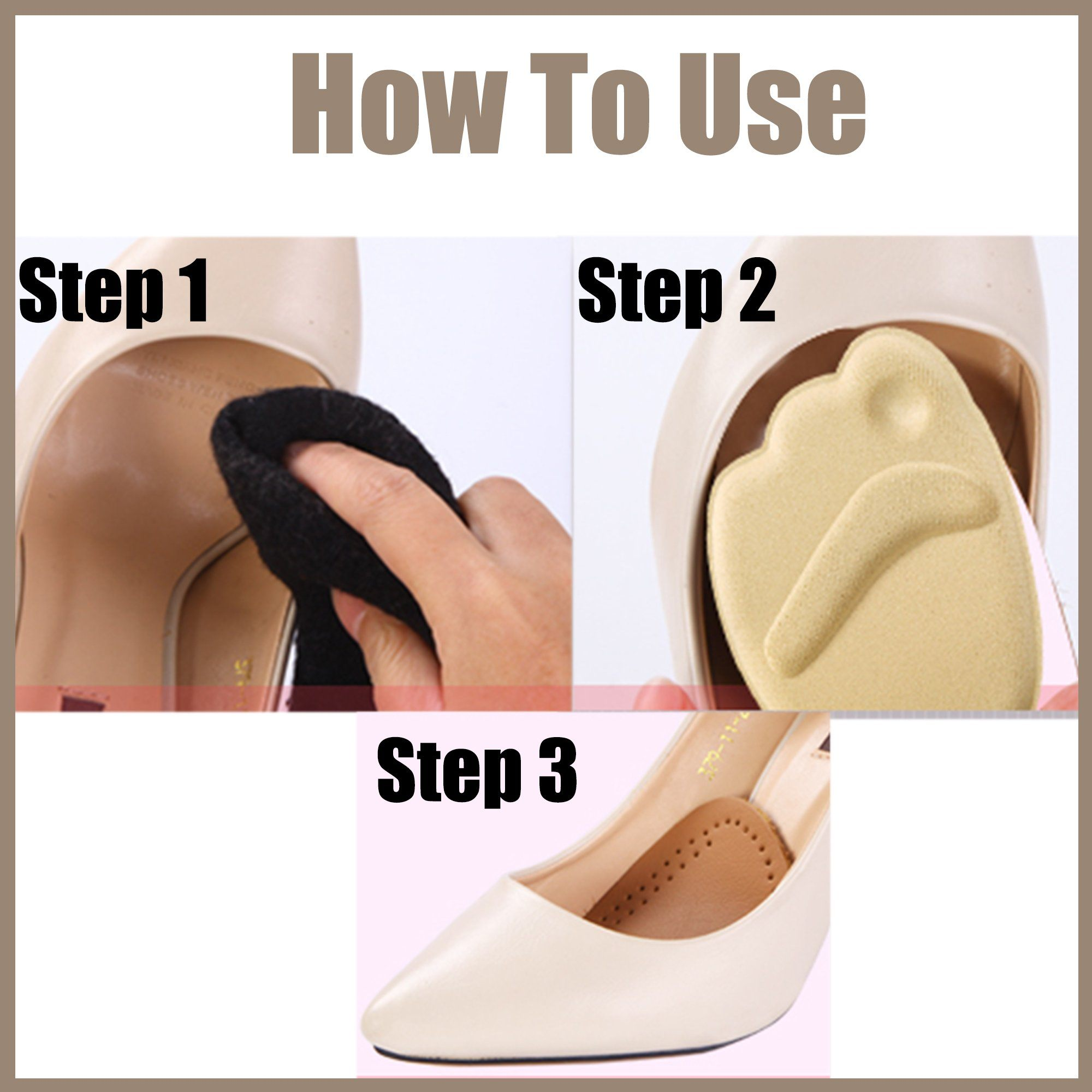 Anti-Slip Forefoot Pads - Pack For 4