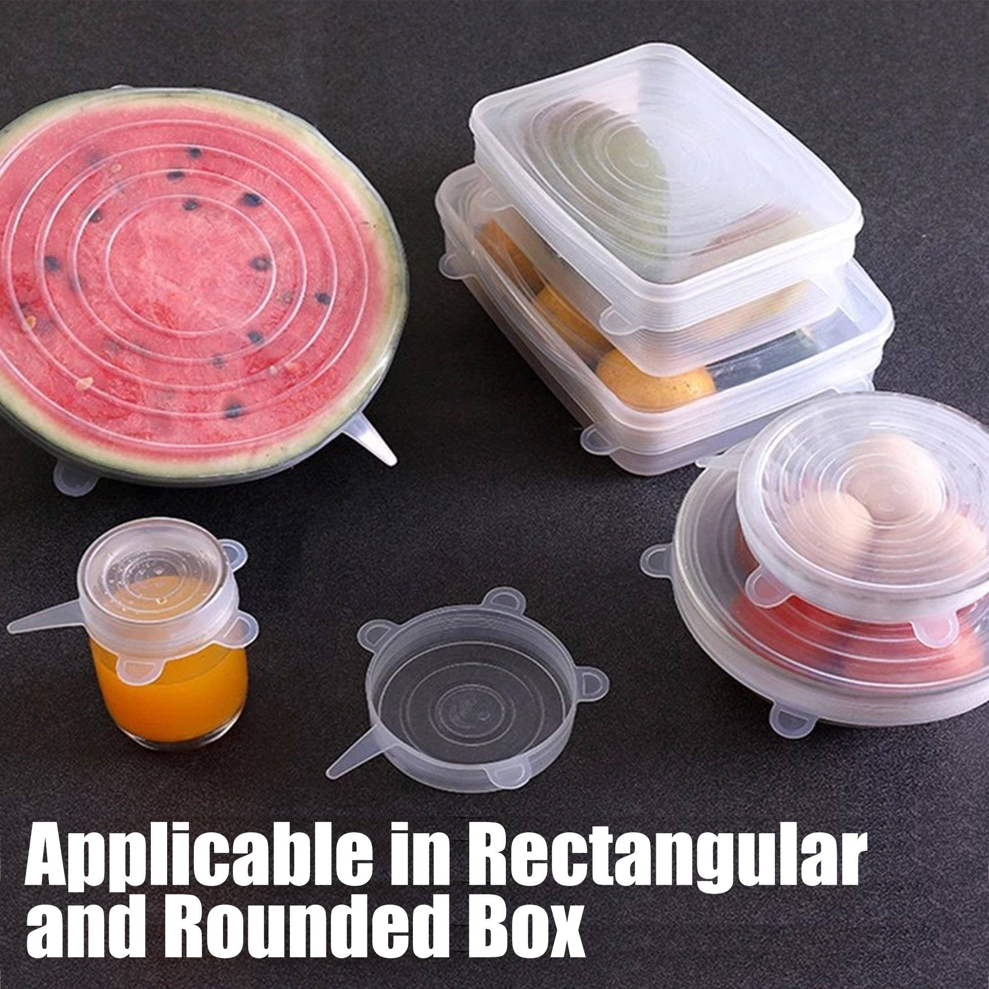 Silicone Stretch Lids - Set For 6