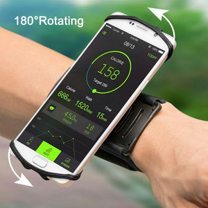 180 Degree Rotatable Cellphone Holder Wristband