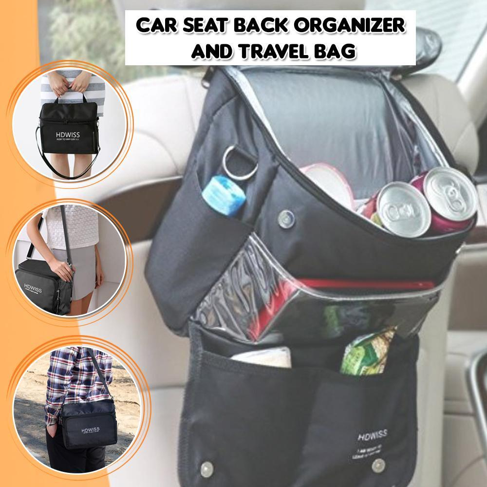 Car Seat Back Organizer and Travel Bag