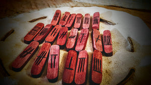 Celtic Ogham Runes (Purple Heart Stave) - The Carnutian Workshop