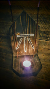 Awen Wood Mini/Travel Altar (Rustic) The Carnutian Workshop