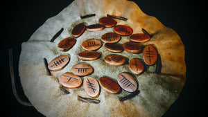 Celtic Ogham Runes (Cherry Wood Elliptical) -The Carnutian Workshop