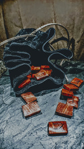 Handmade Wood Elder Futhark Runes (Padauk ) - The Carnutian Workshop