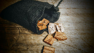 Handmade Elder Futhark Runes (Brown Oak) - The Carnutian Workshop