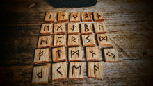 Handmade Elder Futhark Runes (Natural Oak) - The Carnutian Workshop