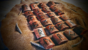 Handmade Elder Futhark Runes (Pau Rosa Brown) - The Carnutian Workshop