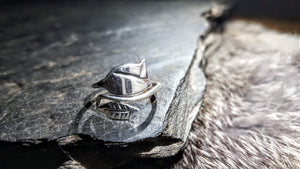 Handmade Pure Silver Rose Ring  - The Carnutian Workshop
