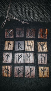 Handmade Younger Futhark Runes (Rustic) - The Carnutian Workshop