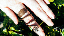 Handmade Copper Leaf Ring (Ring of Annwn) - The Carnutian Workshop