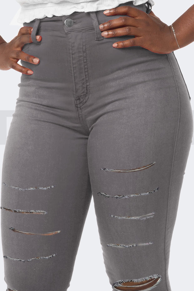 Super Stretchy Jeans Badass Lady - Gris