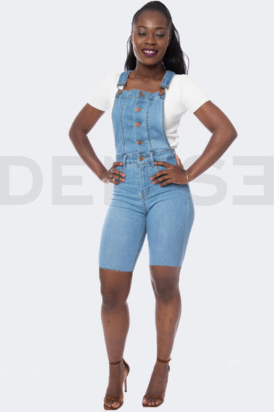 Beauty Short Salopette - Light Blue
