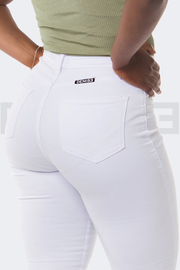 Super Stretchy Jeans BadGirl - Blanc
