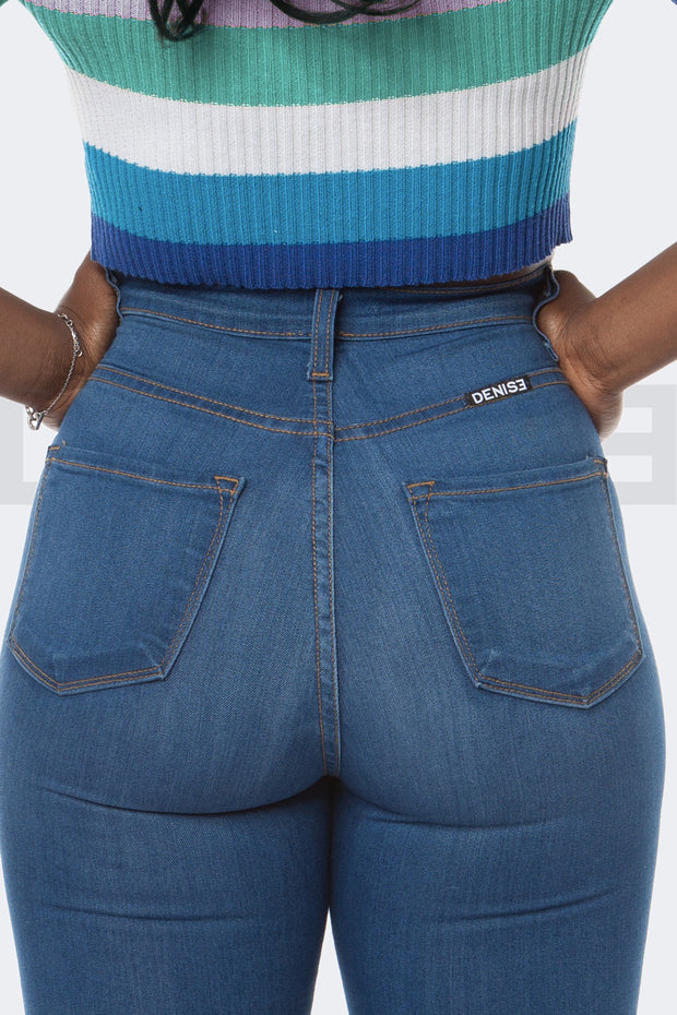 Super Stretchy Jeans Bossy Mama - Bleu Medium