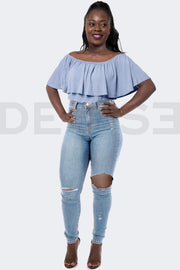Super Stretchy Jeans Caribbean Duchess - Light Blue