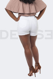 Very Taille Haute Short - Blanc