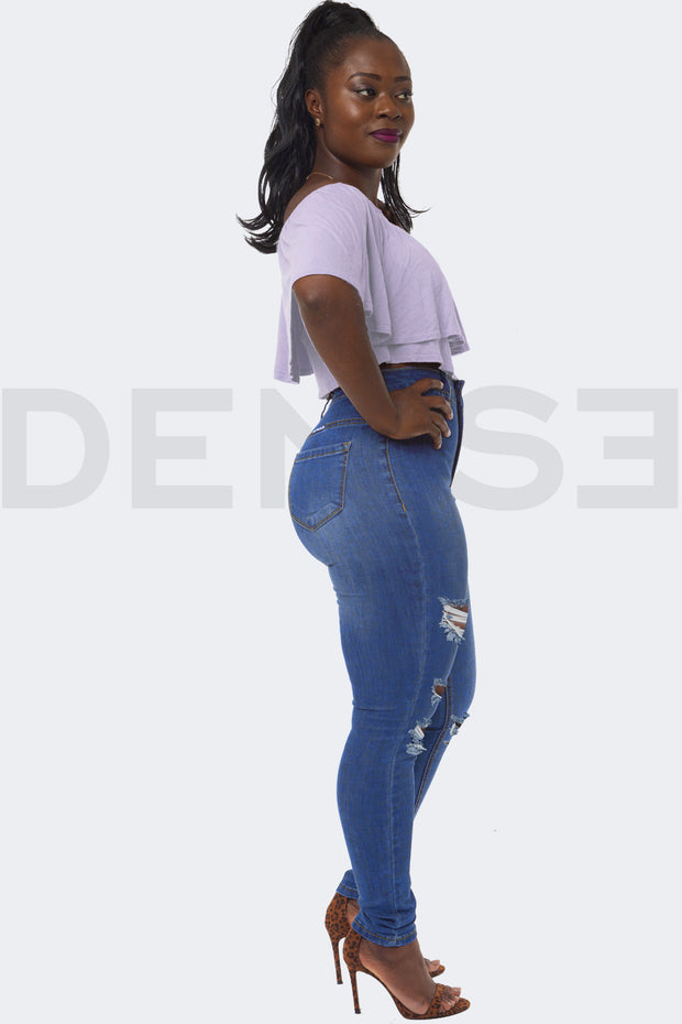 Super Stretchy Jeans Badass Lady - Bleu Medium