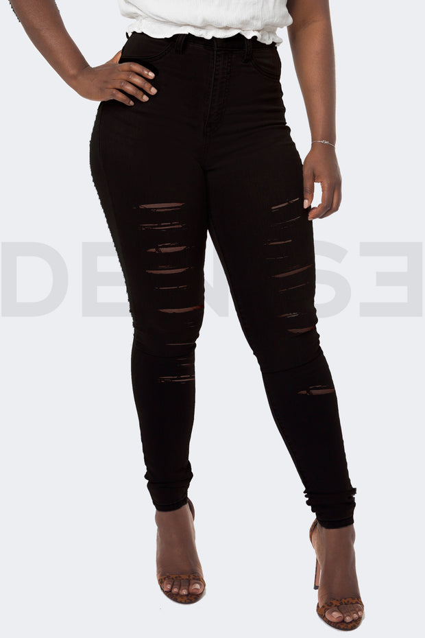 Super Stretchy Jeans Badass Lady - Noir