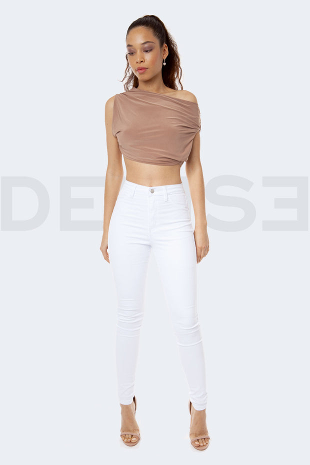 Super Stretchy Jeans Taille Haute - Blanc