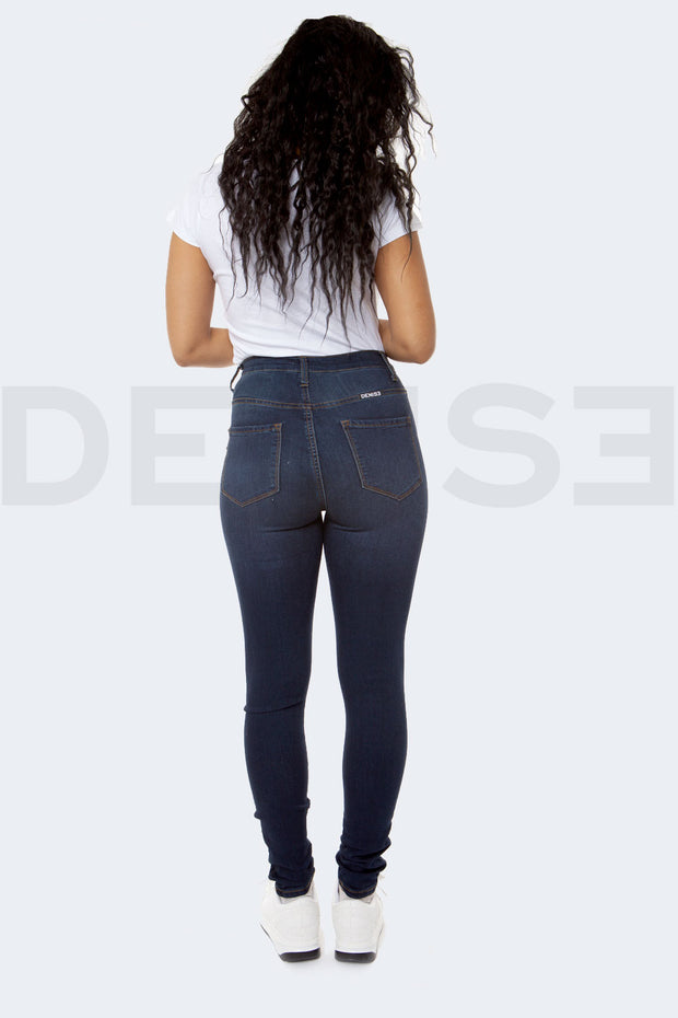 Super Stretchy Jeans Taille Haute - Brut