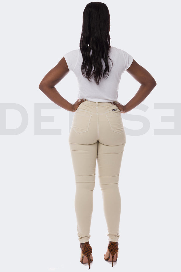Super Stretchy Jeans Taille Haute - Sable