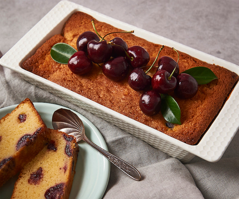 Tis the season to be cherry!  A simply delightful cherry loaf cake recipe