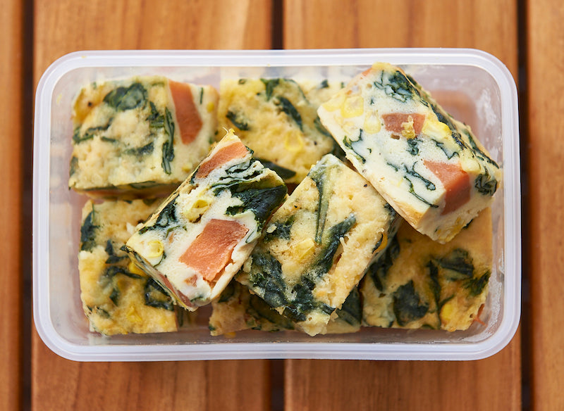 healthy lunch idea - veggie frittata