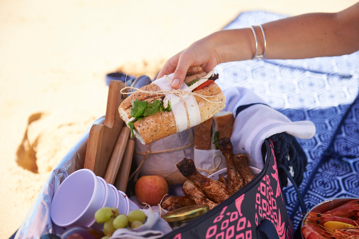 beach picnic sandwich
