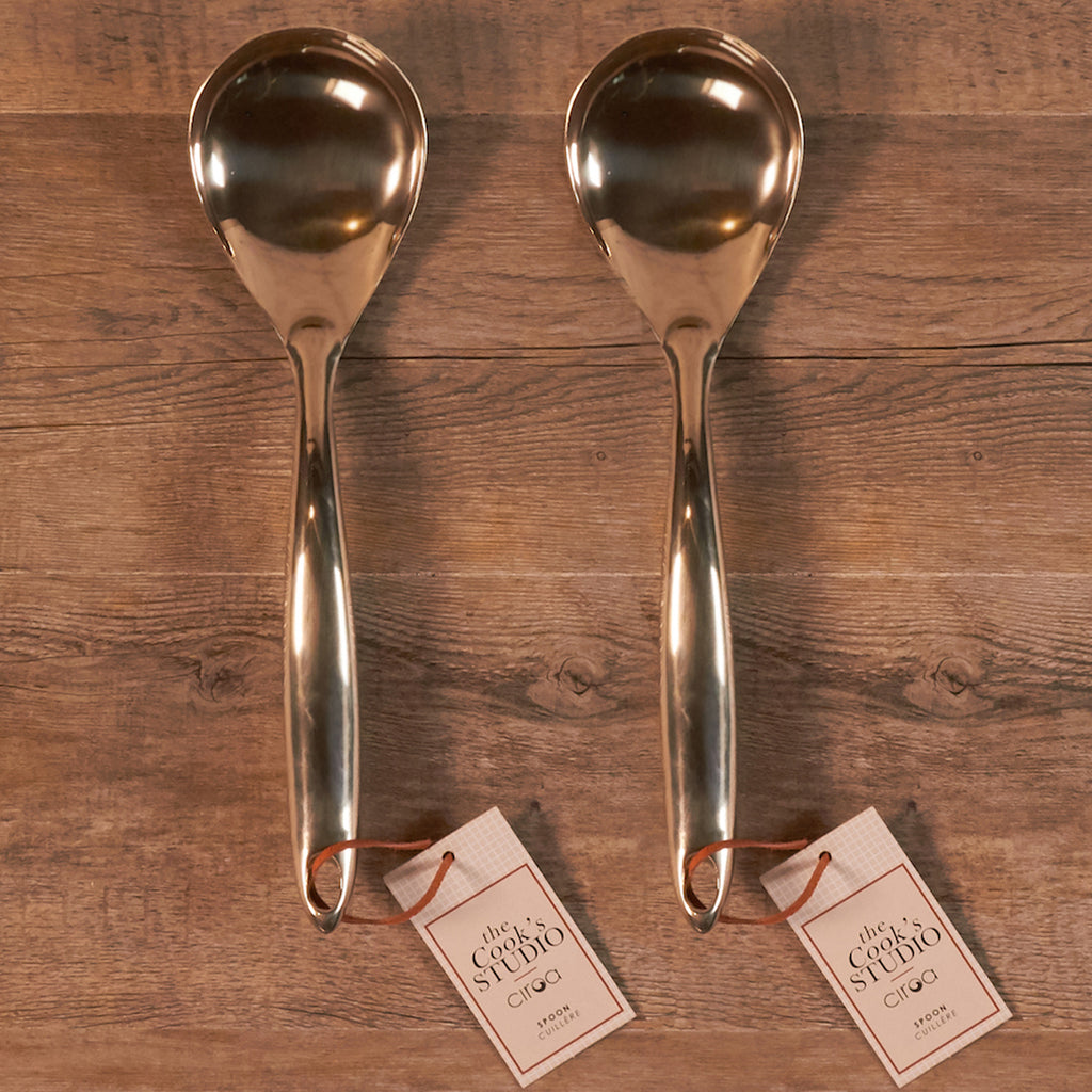Serving Spoon - Stainless Steel Gold Finish Set of 2