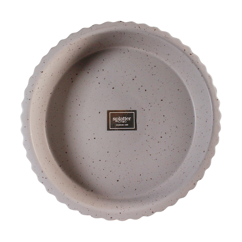 Ceramic Pie Dish - Gray Speckle