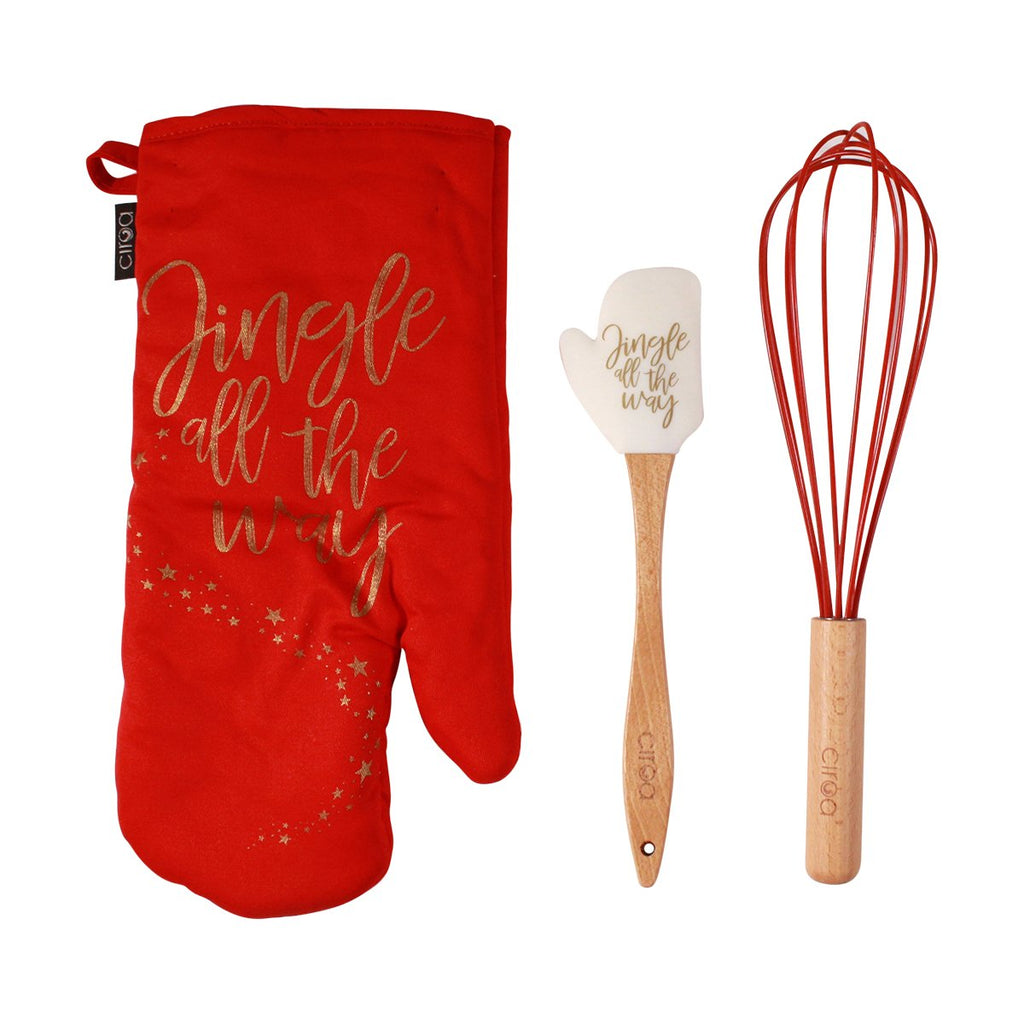Mitt & Utensil Set - Jingle All The Way